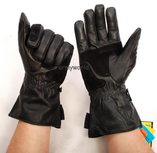 Leather Gloves Motorcycle Dutch Army New