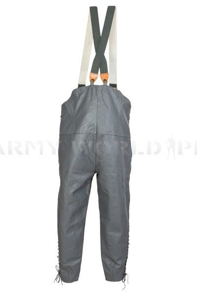 Leather Pants  U-Boot HARRO Grey Original Look like New Model 1
