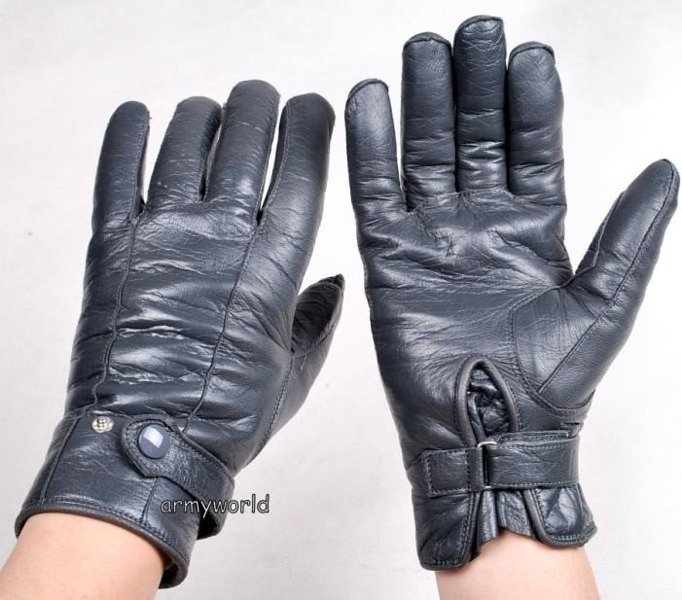 Leather Warmed Gloves Military Demobil