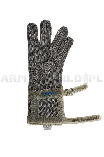 Long Metal Protective Glove Over Wrist Niroflex 2000 Stainless Steel Demobil Good Condition