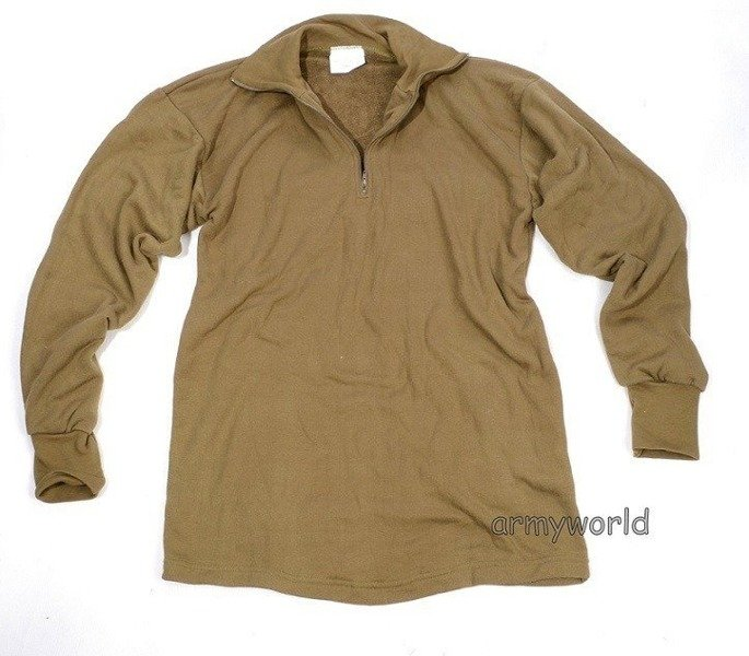 Long Sleeve Shirt Trikot Military Dutch Khaki Original New