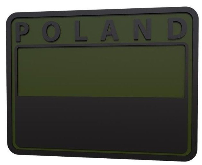 MILITARY EMBLEM PVC POLISH FLAG  Oliv Green POLAND  - Helikon  SET OF 2 PIECES