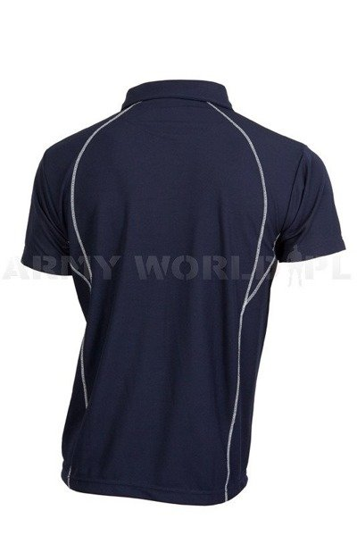 Man's Polo Shirt Short Sleeves Bundespolicei Navy Blue Used