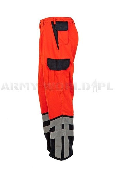 Medical Trousers Orange&Dark blue With Reflectors Original Demobil