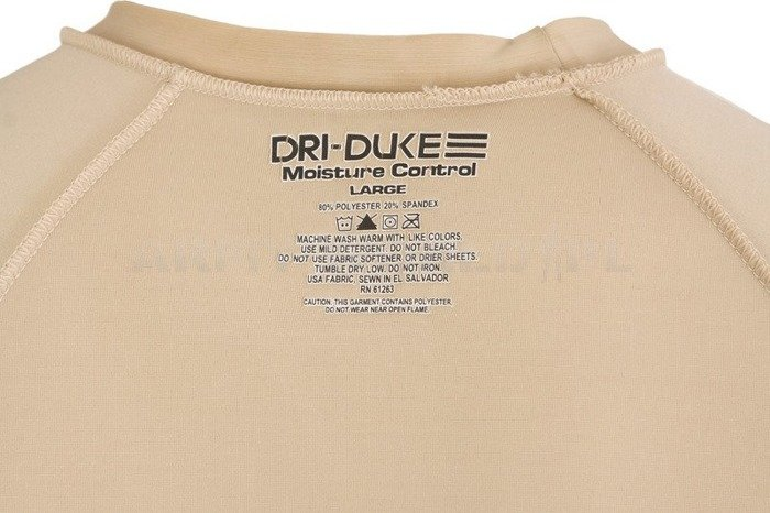 Men's Military Blouse Long Sleeve Dri-DukeBeige Original Used