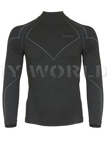 Men's Shirt Wool Merino Brubeck Black New Sale