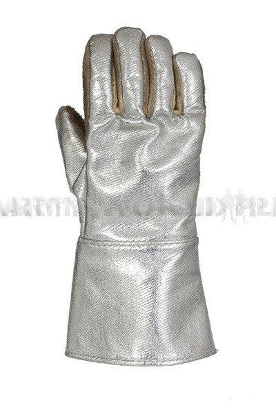 Metalized Heat Resistant Gloves German Army Used