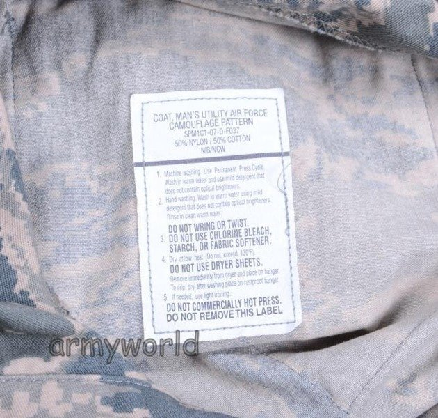 Military American Shirt US Army Air Force Nyco Original Demobil