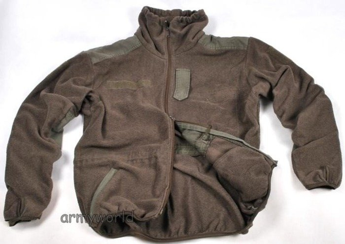 Military Austrian Fleece Jacket Oliv Original Demobil II Quality