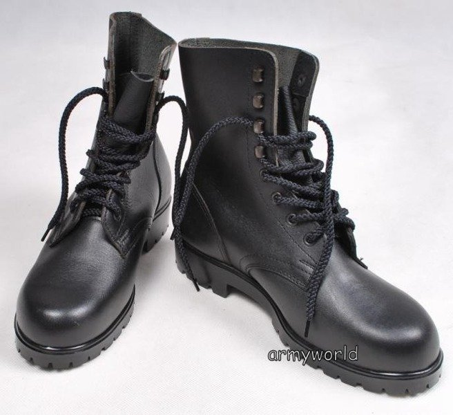 Military Austrian Leather Shoes Original New