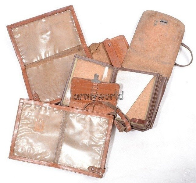 Military Austrian Leather Wallet Original Demobil Brown