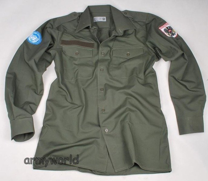 Military Austrian Shirt ONZ Oliv Original New