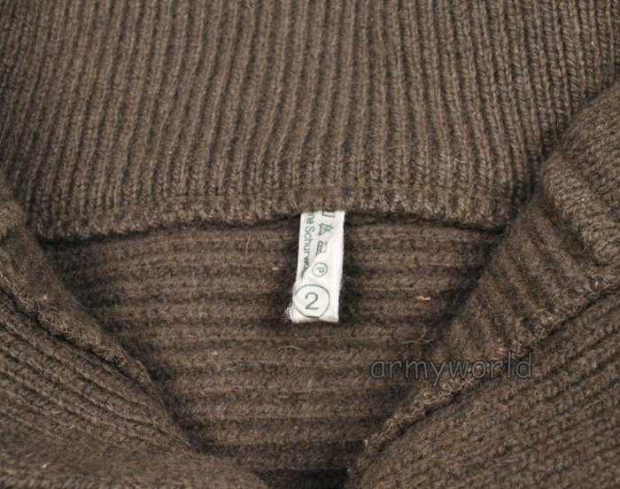 Military Austrian Sweater Mountain Division Woolen Oliv Original New