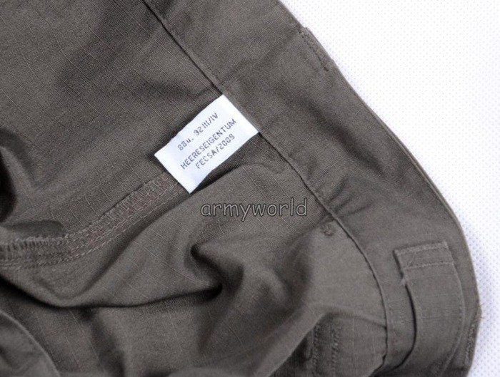 Military Austrian Trousers Ripstop Oliv Original Demobil Set Of 10 Pieces