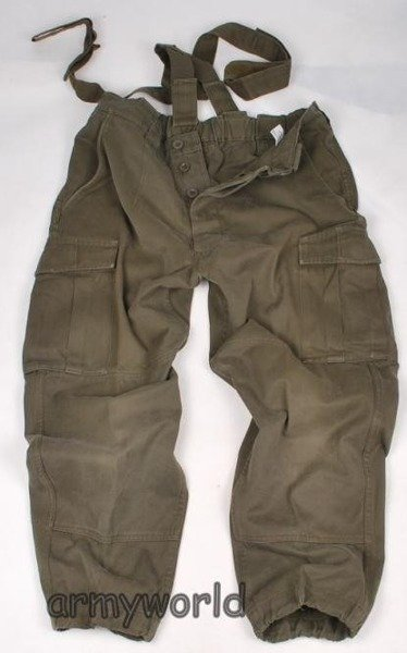Military Austrian Trousers With Braces Original Demobil Set Of 10 Pieces