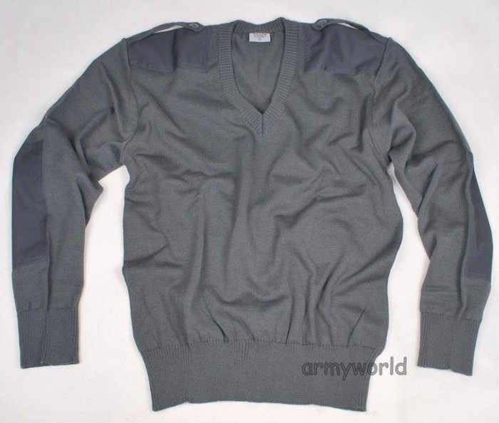 Military Austrian Woolen Sweater Grey Original New