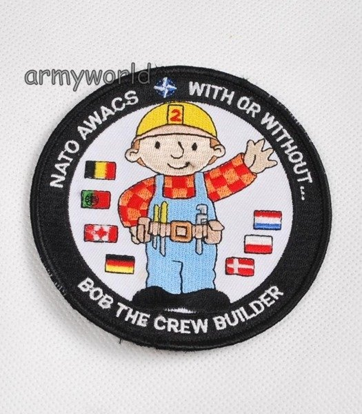 Military Badge NATO AWACS - BOB THE CREW BUILDER Original Demobil