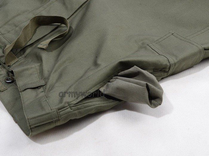 Military Belgian Cargo Trousers Nyco Oliv Original Demobil Set Of 10 Pieces