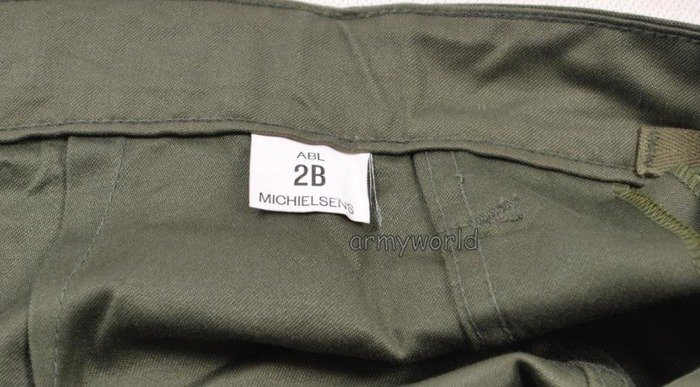 Military Belgian Cargo Trousers Nyco Oliv Original New MODEL I