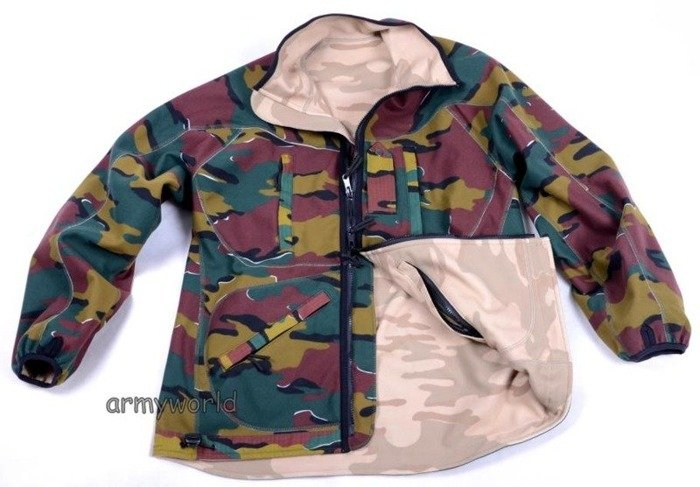 Military Belgian Reversible Fleece Jacket Original New