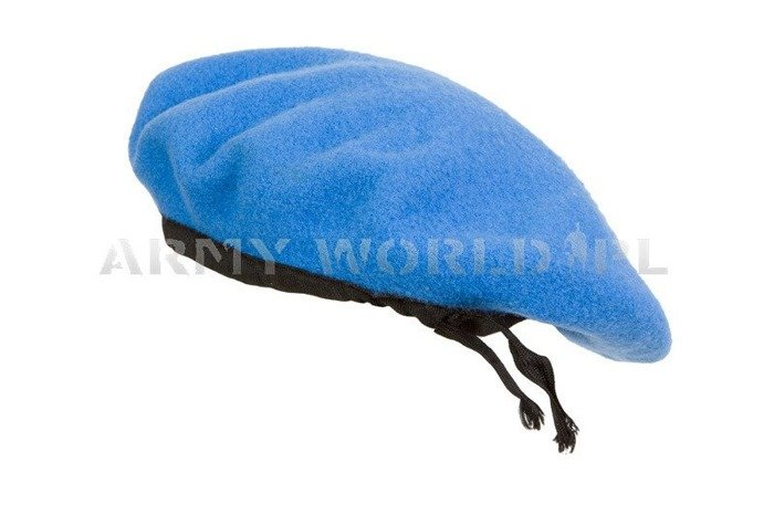 Military Beret United Nations Without Badge Blue Original New