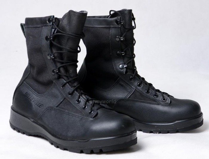 Military Boots Belleville Black Gore-tex Original US Army Demobil Sufficient Condition
