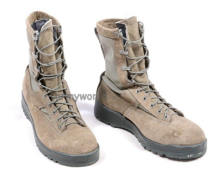 Military Boots US Army Air Force Belleville / Wellco Gore-tex Original Good Condition