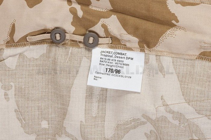 Military British Desert Shirt Tropical DPM Desert Ripstop Original New