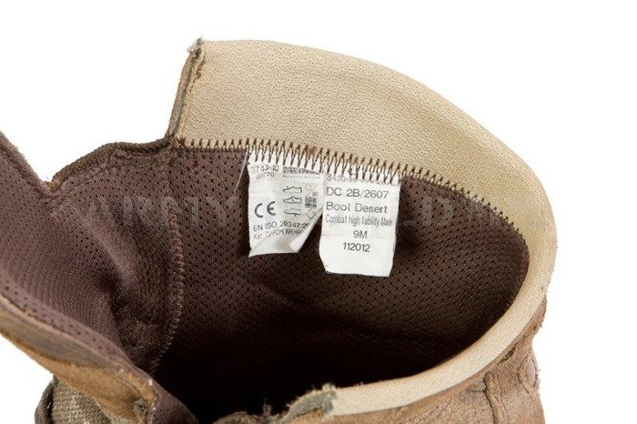 Military British Shoes Meindl Desert Shoes Original Used