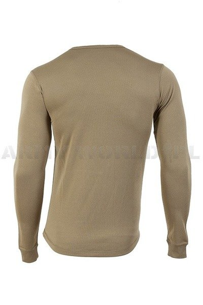 Military British Thermoactive Shirt With Long Sleeves Light Oliv Original New