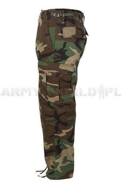 Military Cargo Pants Ranger Type BDU Woodland New