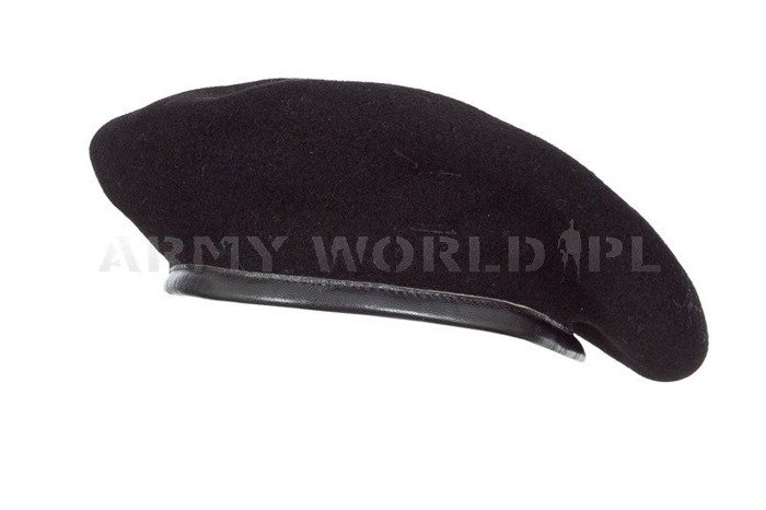 Military Danish Beret Black Original New