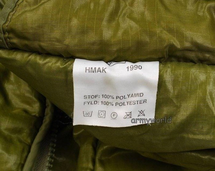 Military Danish Sleeping Bag / Military Duvel Green Original Demobil