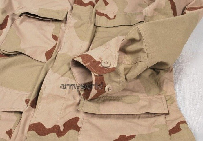 Military Desert Shirt US ARMY 3-Color Ripstop Original Demobil