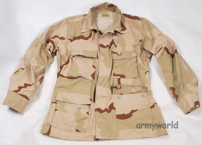 Military Desert Shirt US ARMY 3-Color Ripstop Original New