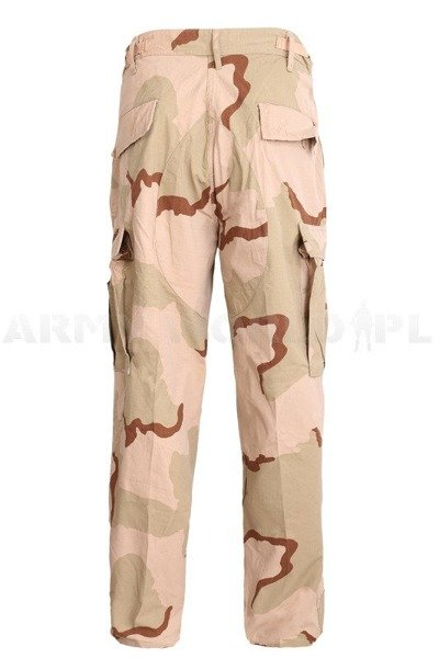 Military Desert Trousers US Army 3-Color Nyco Original Demobil