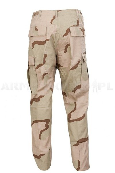 Military Desert Trousers US Army 3-Color Ripstop Original New