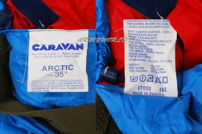 Military Downy Sleeping Bag CARAVAN Model ARCTIC -35 st.C Original Demobil