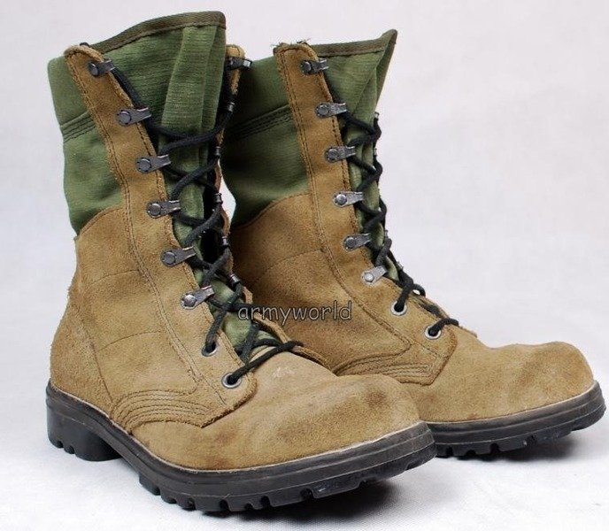 Military Dutch Boots Desert Khaki Original Demobil