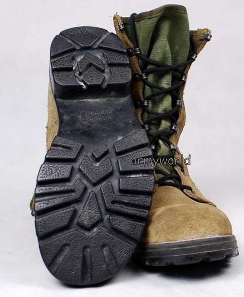 Military Dutch Boots Khaki Original - Looking Like New