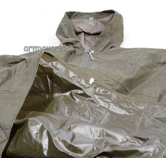 Military Dutch Coat Poncho Oliv With Sleeves Original Demobil