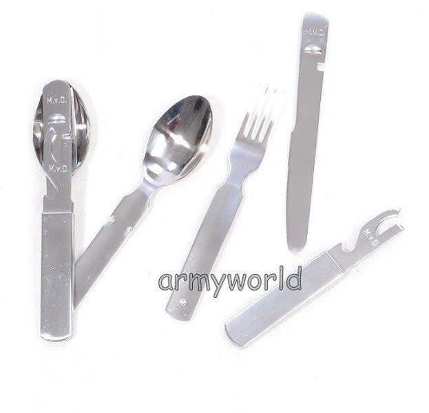 Military Dutch Cutlery Set Stainless Steel Original Unused