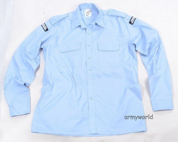 Military Dutch Gala Shirt Blue Long Sleeves Original Demobil