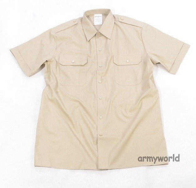 Military Dutch Gala Shirt Creamy Short Sleeves Original New