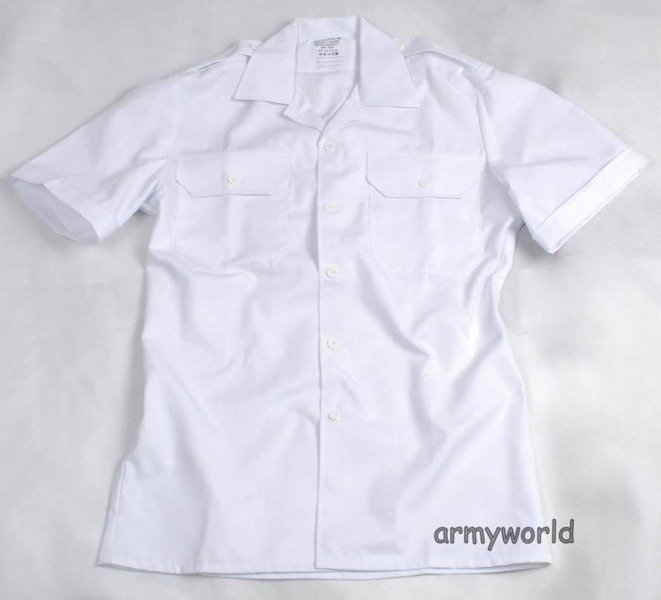 Military Dutch Gala Shirt White Original New -Set of 10 Pieces