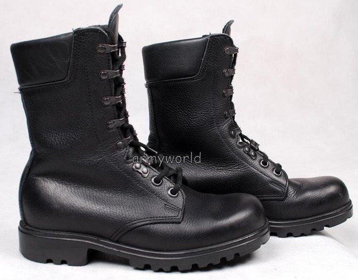 Military Dutch Leather Boots Older Model Original Demobil