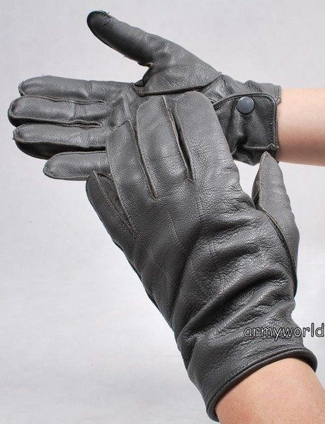 Military Dutch Leather Gloves Grey M2 Used
