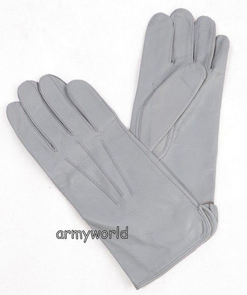 Military Dutch Leather Gloves Grey New Size 9 1/2
