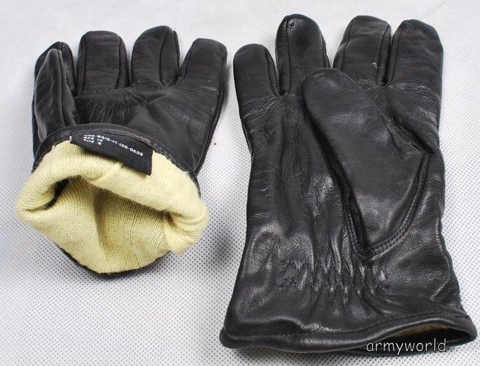 Military Dutch Leather Gloves M III Used