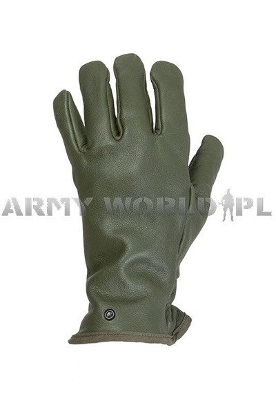 Military Dutch Leather Gloves Procoves Oliv Original New